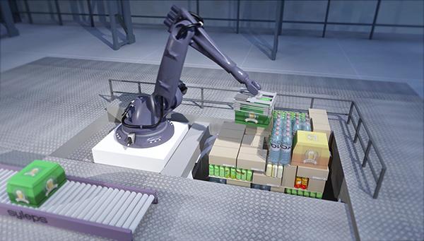 Palettisation hétérogène robotisée